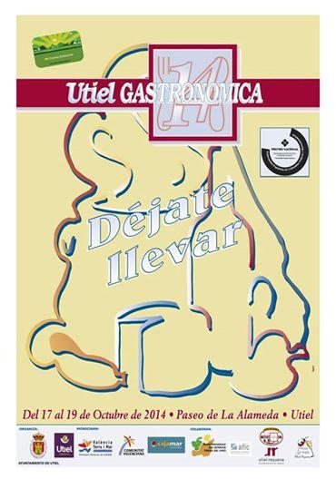 Cartel oficial de la XIX edición de Utiel Gastronómica FUENTE: utielrequena.org
