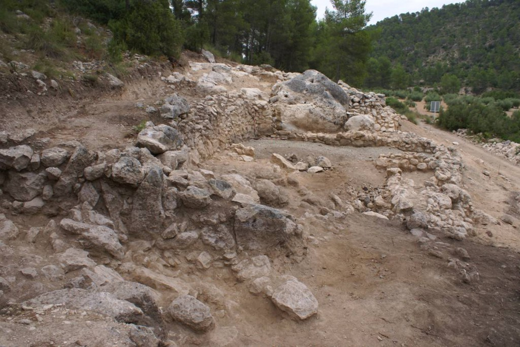 Restos de la bodega del Lagar 1 de La Solana del yacimiento íbero de Las Pilillas FUENTE: utielrequena.org