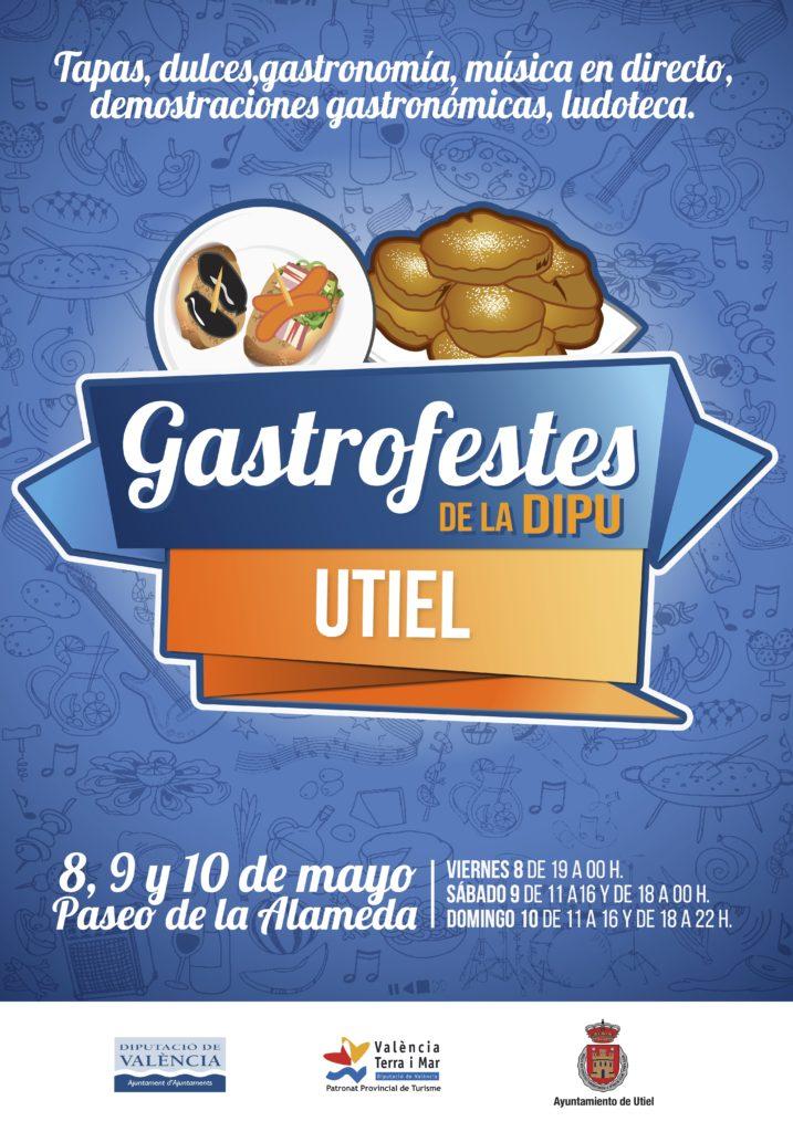 """Cartel """"Gastrofestes de la Dipu"""" en Utiel  FUENTE: valenciaterraimar.org"""