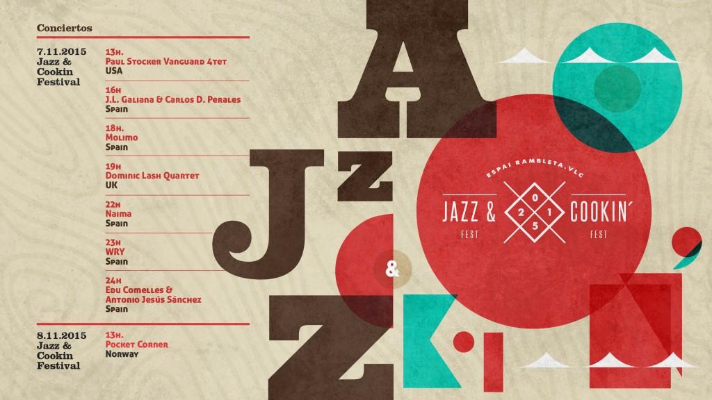 cartel Jazz Cooking D.O. Utiel Requena