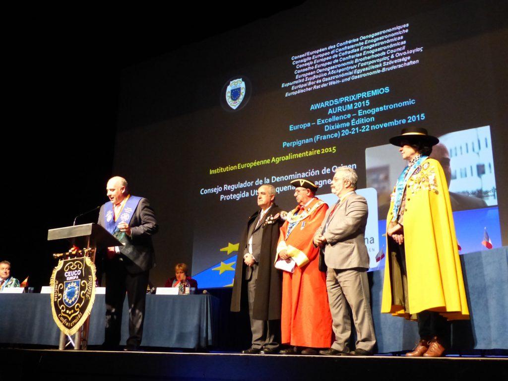 Utiel-Requena recibe el Premio Aurum Europa Excellence
