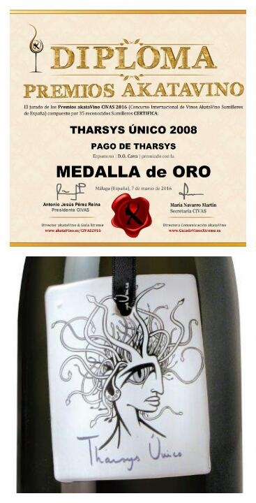 Pago de Tharsys Único recibe una medalla de oro en el Concurso Internacional de Vinos Akatavino