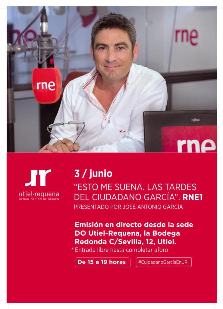 'Las tardes del Ciudadano García' RNE1 se emite mañana desde la DO Utiel-Requena