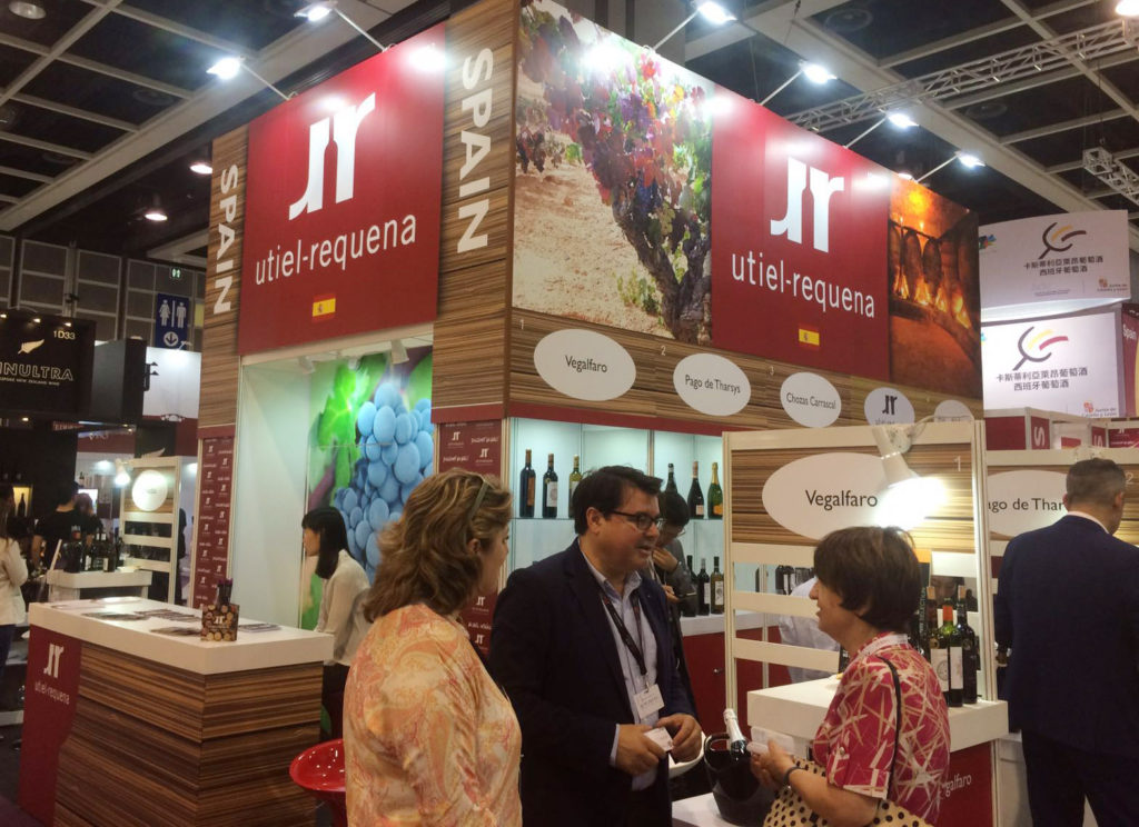 Stand Utiel-Requena en Vinexpo HK