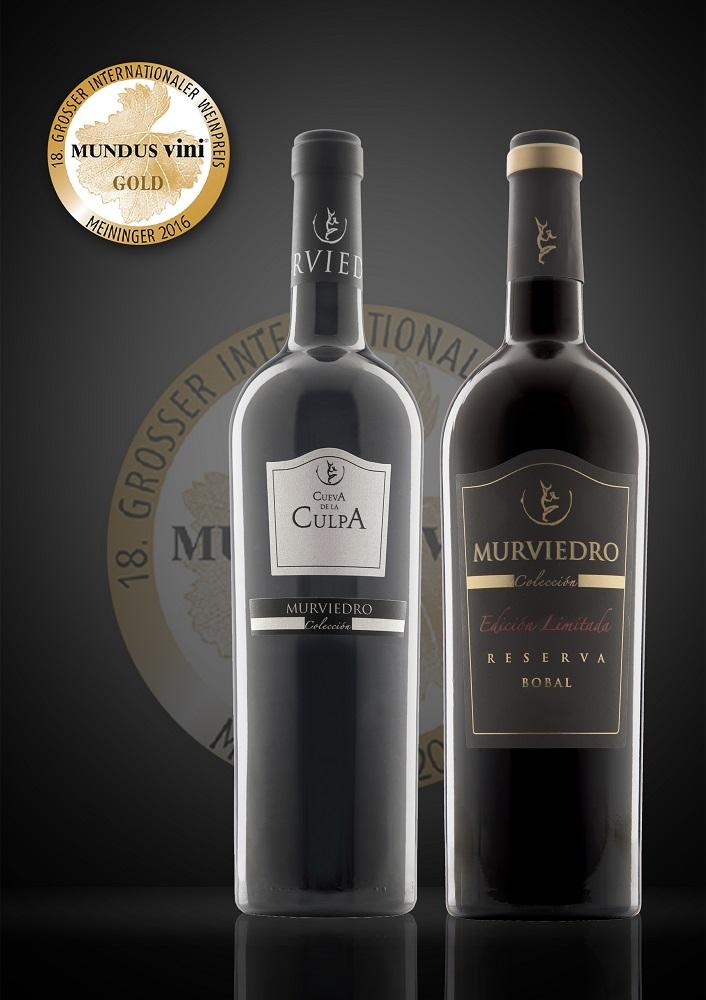Dos vinos de Bobal de Bodegas Murviedro obtienen dos medallas de oro en el Mundus Vini
