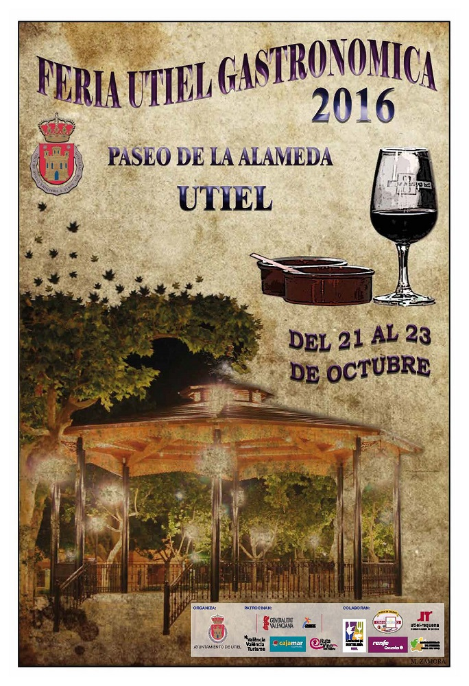 Llega la Feria Utiel Gastronómica 2016 del 21 al 23 de octubre