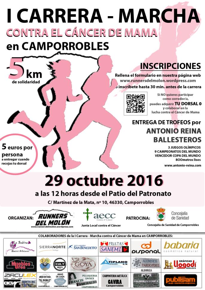 ¡Participa en la primera Carrera – Marcha contra el Cáncer de Mama de Runners del Molón!