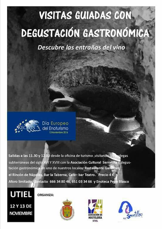 Celebra el día del Enoturismo recorriendo las bodegas subterráneas de Utiel