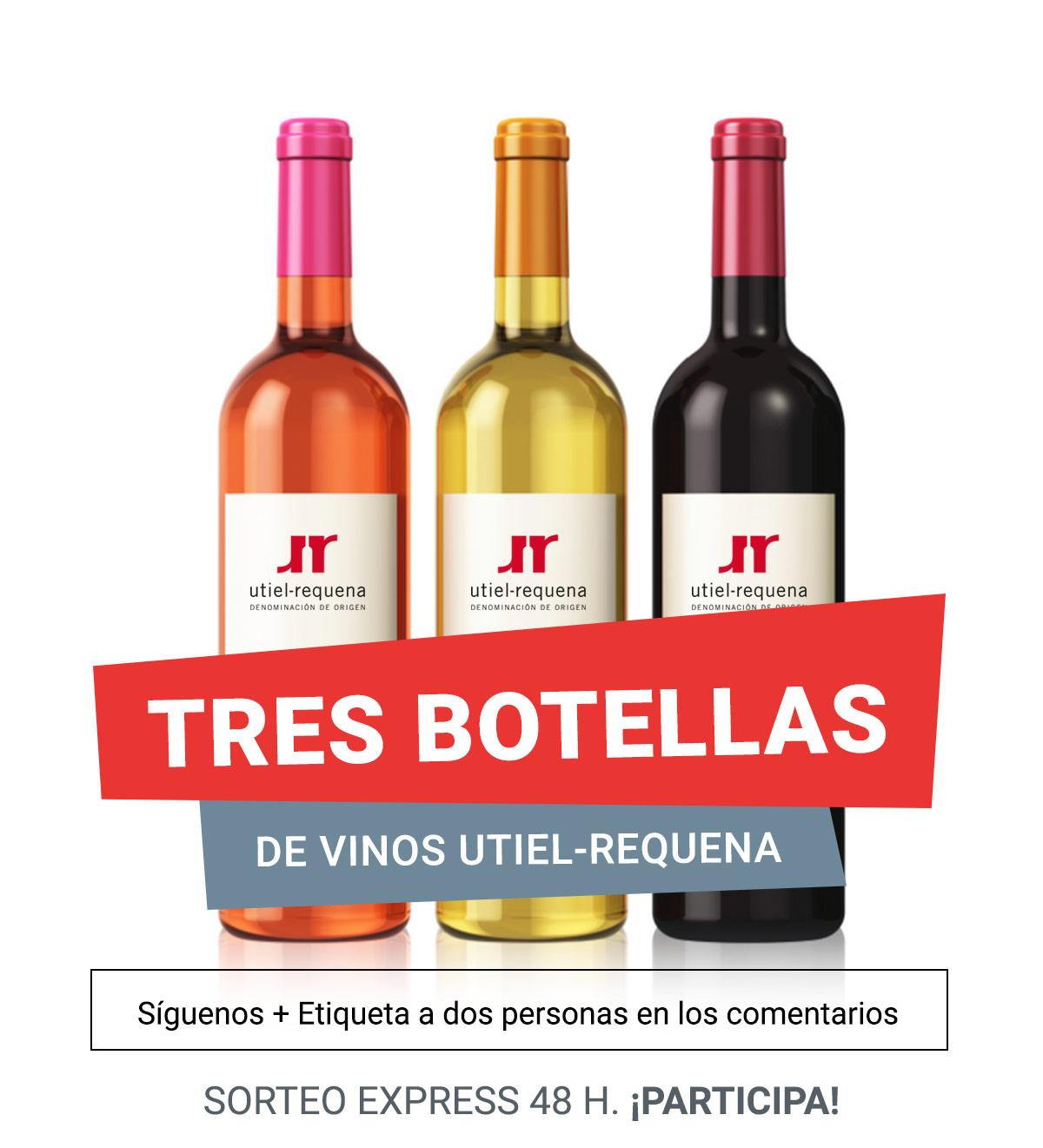 Tres botellas de Vinos Utiel Requena que puedes llevarte a tu casa 0
