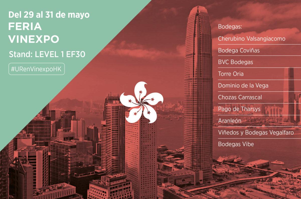 La DO Utiel Requena estará presente en la Feria VINEXPO Hong Kong el próximo mes de mayo