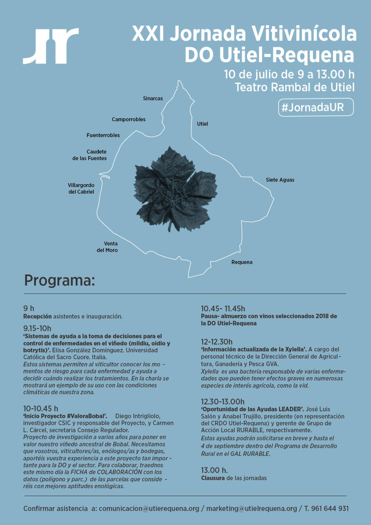 La DO Utiel-Requena invita a participar a todo el sector en su XXI Jornada Vitivinícola