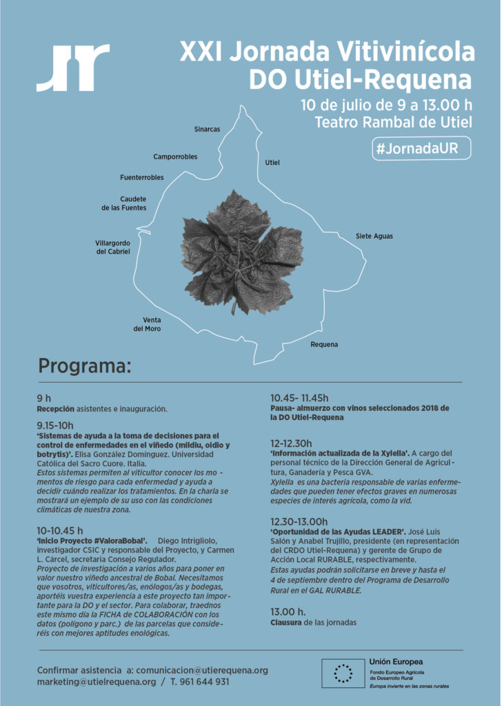 La DO Utiel-Requena invita a participar a todo el sector en su XXI Jornada Vitivinícola 0