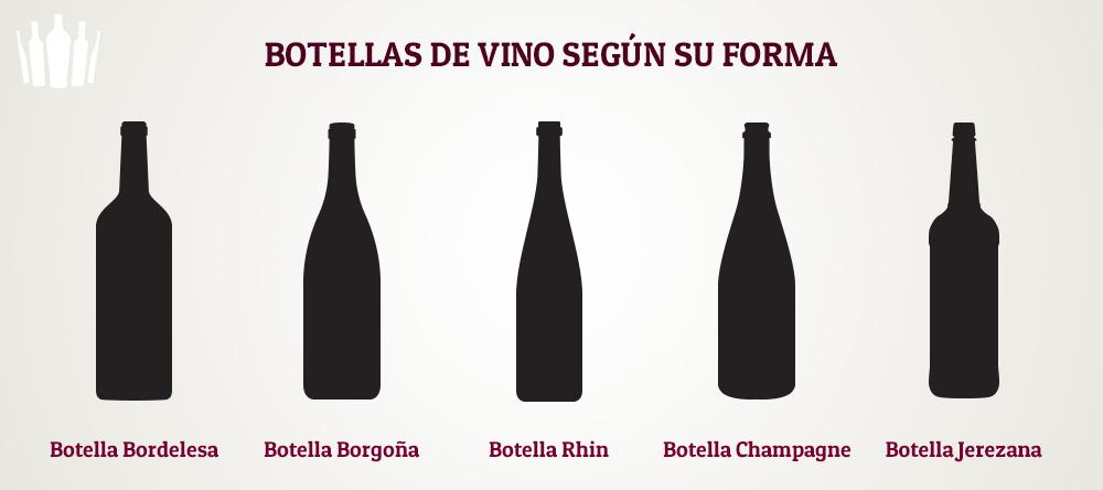 ¿Cuántos tipos de botellas de vino existen?