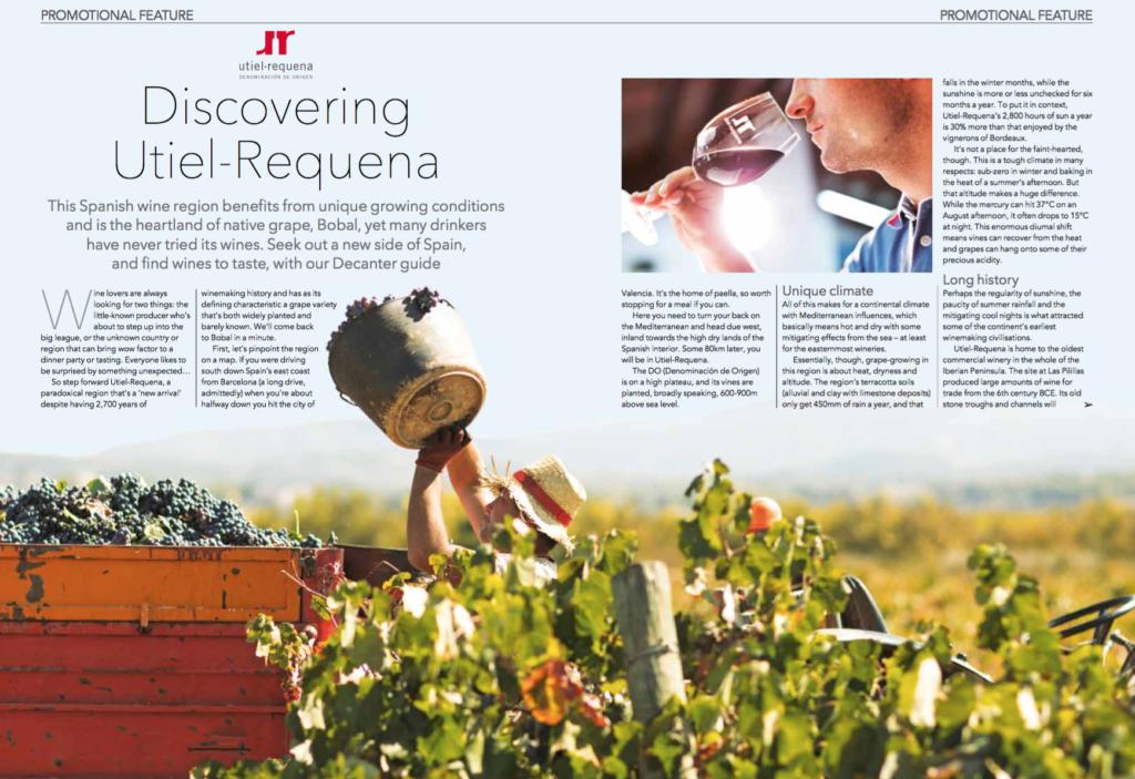 La revista Decanter destaca la DO Utiel-Requena y sus vinos en su número de marzo 0