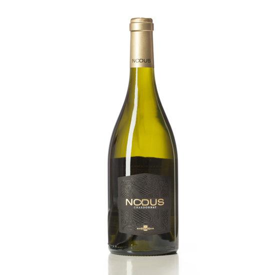 Botella de vino blanco Nodus Chardonnay