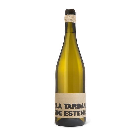 Botella de vino blanco La Tardana de Estenas