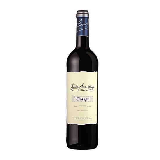 Botella de vino blanco Faustino Rivero Ulecia Crianza