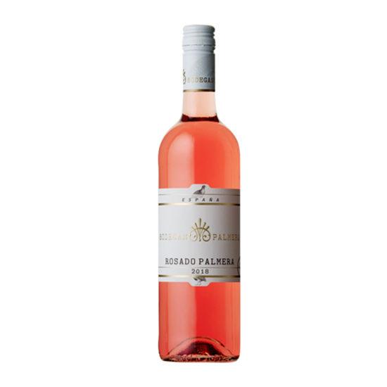 Botella de vino blanco Rosado Palmera