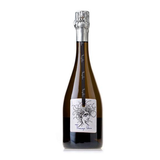 Botella de vino blanco Tharsys Único Brut Reserva