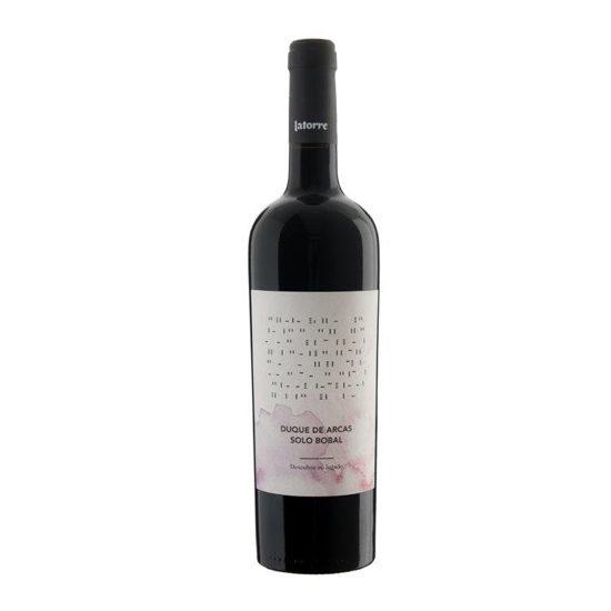 Botella de vino blanco Duque de Arcas Solo Bobal
