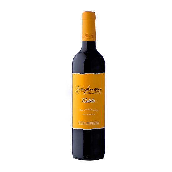 Botella de vino blanco Faustino Rivero Ulecia Roble
