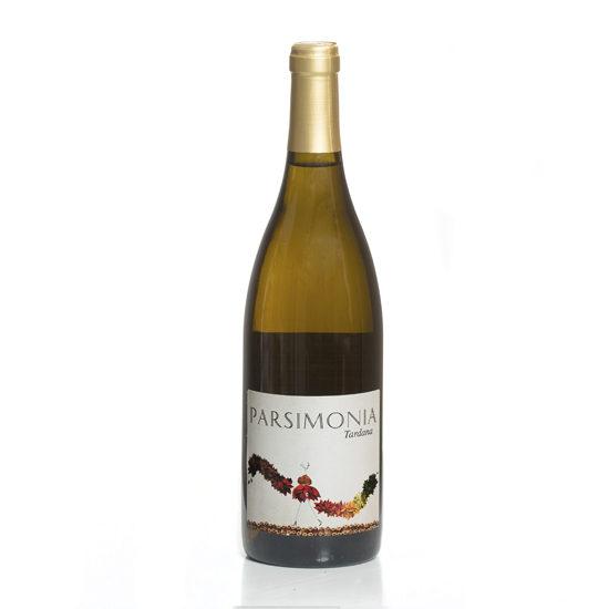 Botella de vino blanco Parsimonia Tardana