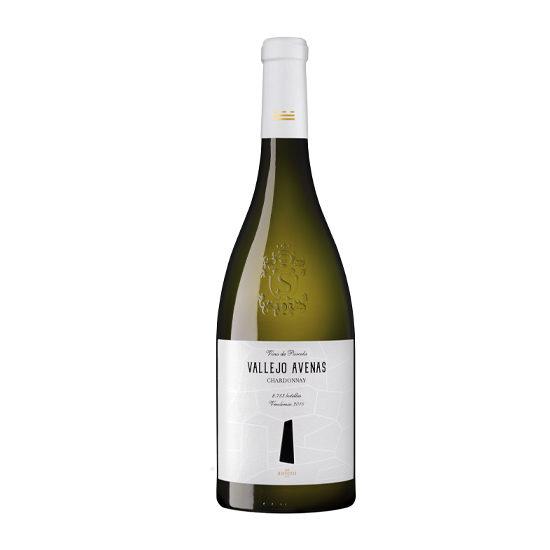 Botella de vino blanco Vallejo Avenas 2018