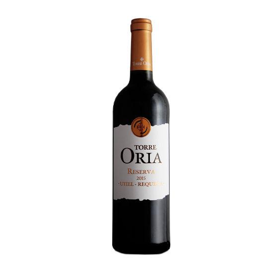 Botella de vino blanco Torre Oria Reserva