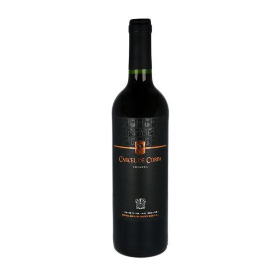 Botella de vino blanco Cárcel de Corpa Crianza 2017