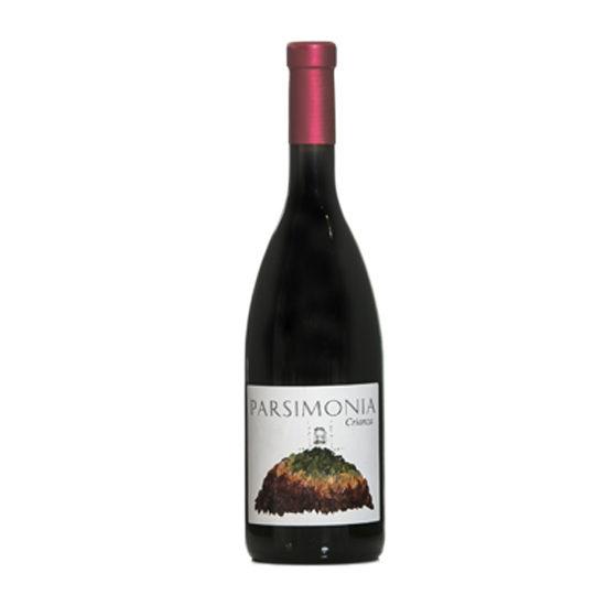 Botella de vino blanco Parsimonia Crianza
