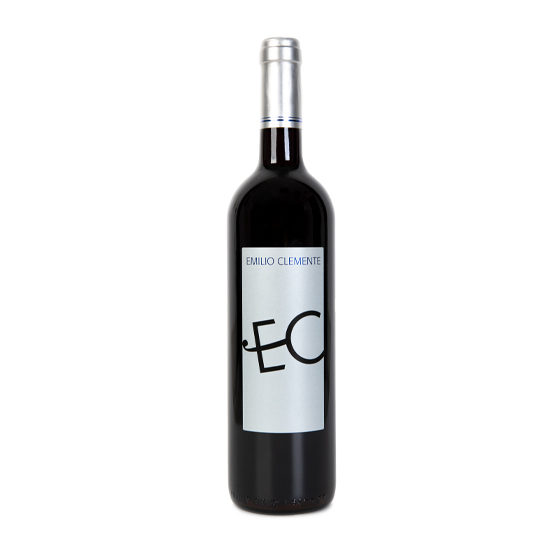 Botella de vino blanco Emilio Clemente