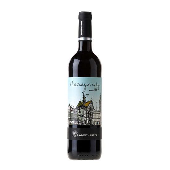 Botella de vino blanco Tharsys City Bobal Madurado en barrica