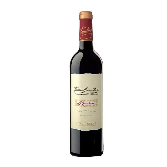 Botella de vino blanco Faustino Rivero Ulecia Reserva