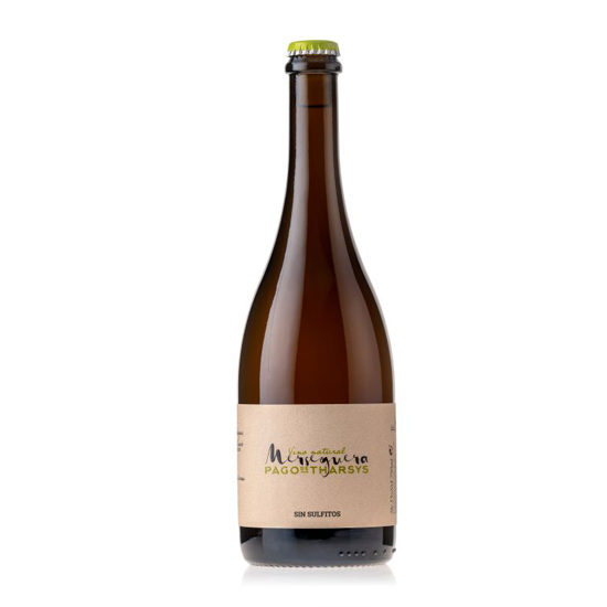 Botella de vino blanco Pago de Tharsys Merseguera sin sulfitos