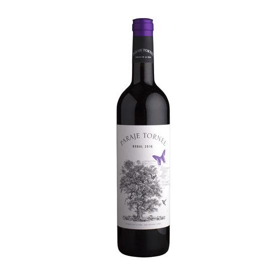 Botella de vino blanco Paraje Tornel