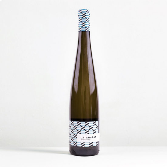 Botella de vino blanco Catamarán