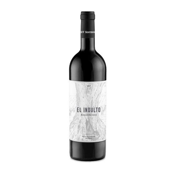 Botella de vino blanco El indulto