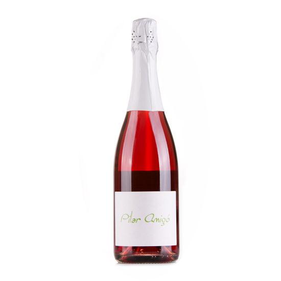 Botella de vino blanco Pilar Amigó espumoso rosado